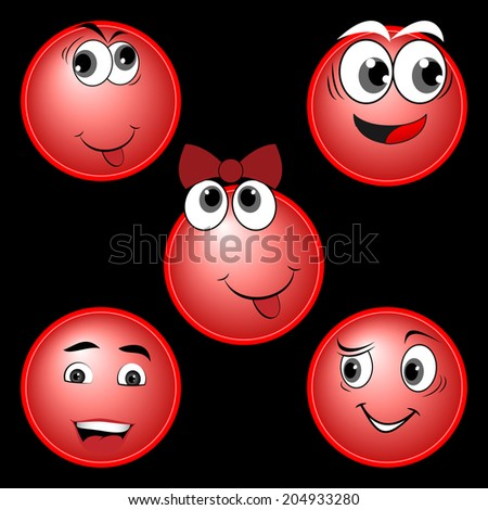 RED character set - stock photo
