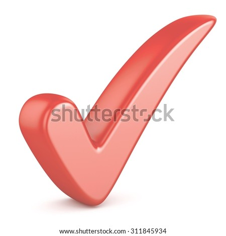red check mark - stock photo