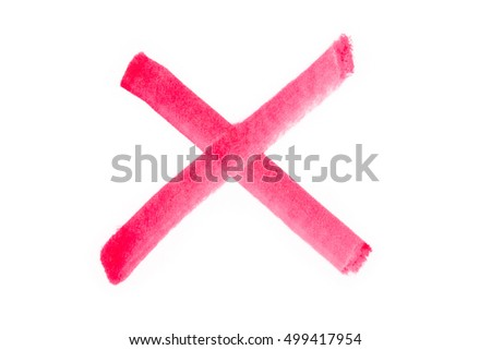 Red Check Mark, cross signs with white background