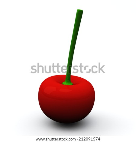 Red cherry berry, 3d