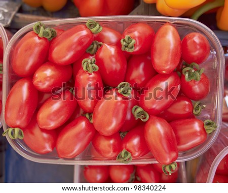 red cherry tomatoes, food background