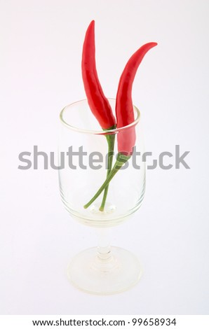 red chili  pepper - stock photo