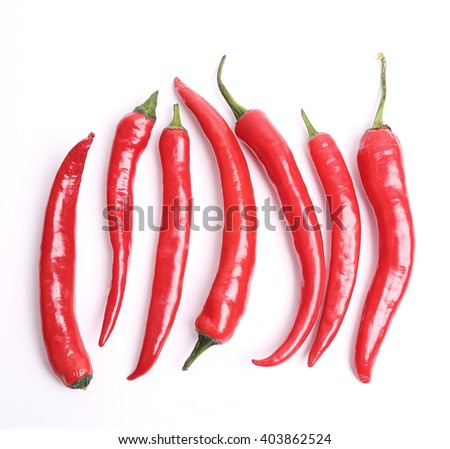 Red chili pepper on the table - stock photo
