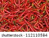 red chili peppers, closeup view - stock photo
