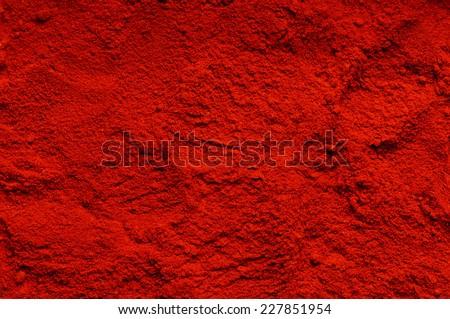 Red chili powder (the background) - stock photo