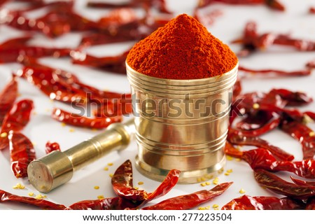 Red Chilly powder. - stock photo