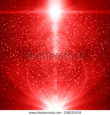 Red christmas abstract background - stock photo