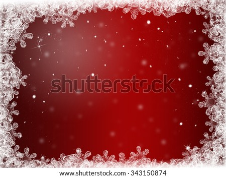 Red Christmas background. New Year background. Winter holiday  - stock photo