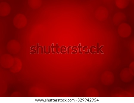 Red Christmas background with light effect - stock photo