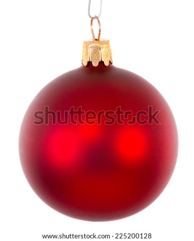 Red christmas ball ornament brightened - stock photo