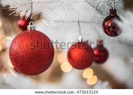 Red Christmas balls decoration