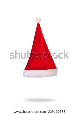 red christmas cap - stock photo