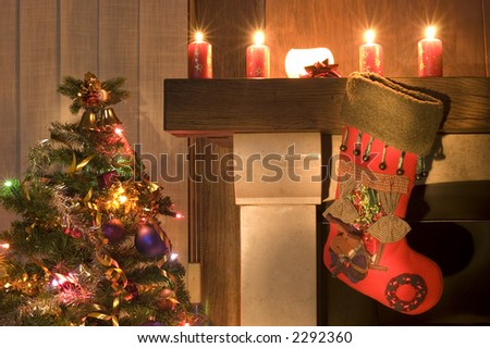 Christmas Stockings Fireplace Stock Images, Royalty-Free Images ...
