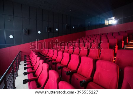 Red cinema empty hall