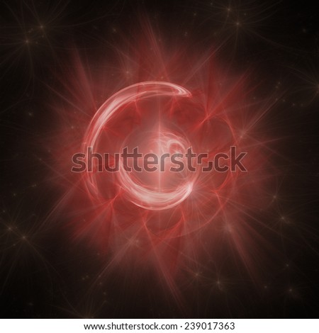 Red Circle Portal Fractal Background