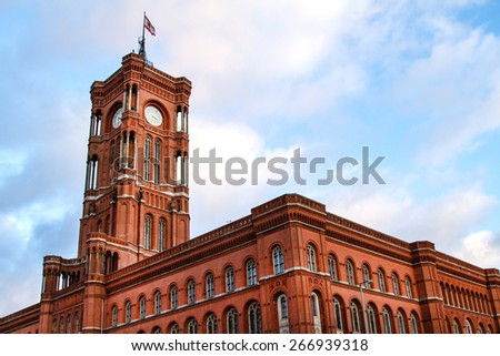 Red City Hall in Berlin, Germany  - stock photo