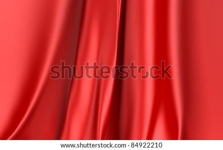 Red Cloth Background - stock photo