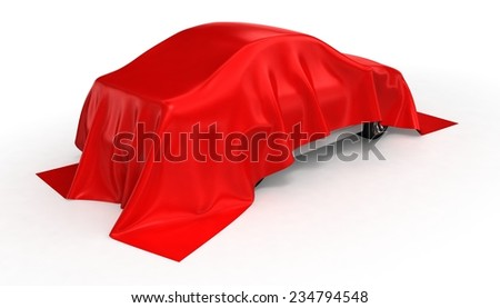 Red cloth car - stock photo