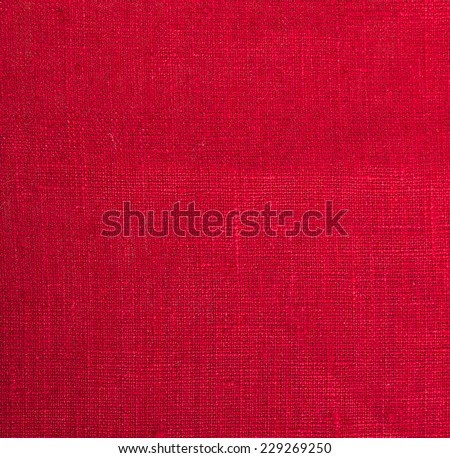 red cloth fabric background close up - stock photo