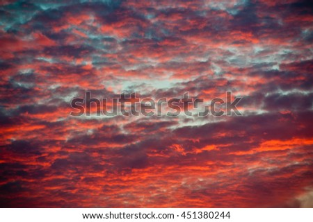 Red clouds, sunset (texture, background)