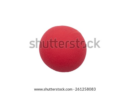 red clown nose isolated (place for photomontage)