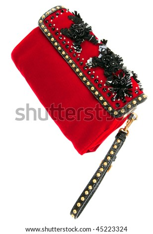 Red clutch - stock photo