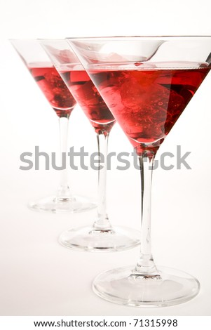 Red cocktail - stock photo