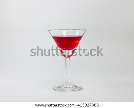 Red cocktail glass