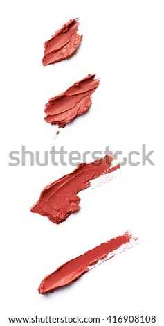 Red color lipstick paint on background