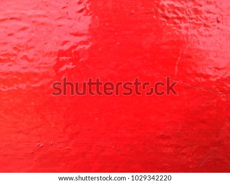 Red color paint cement wall background