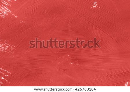 Red color painting as a background - stock photo