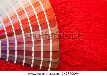 red color palette guide for printing industry isolated - stock photo