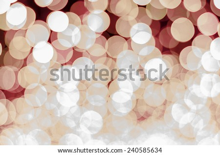 red color tone bokeh background - stock photo