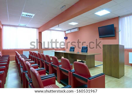 red conference room
