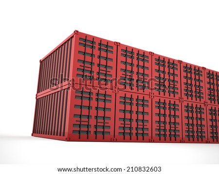 Red containers concept rendered