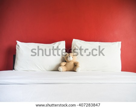Red couple bedroom