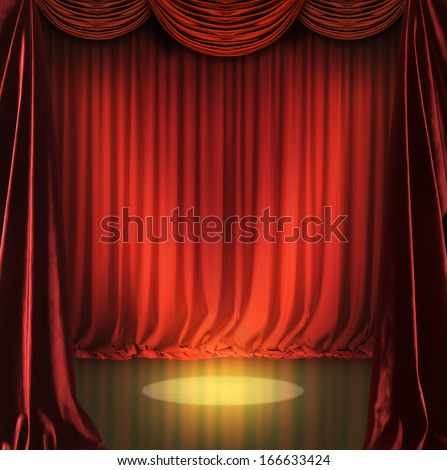 Red courtains in a theater