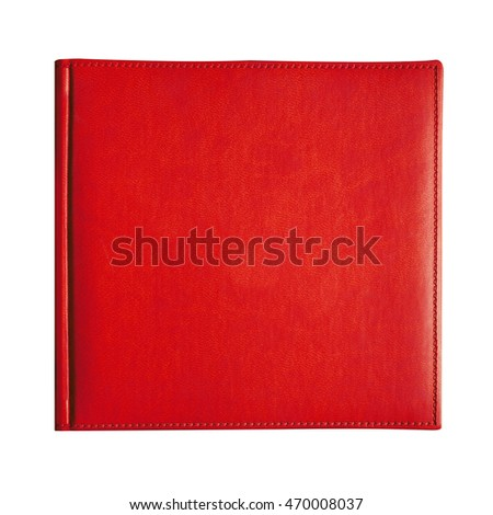 Red cover book isolated on white