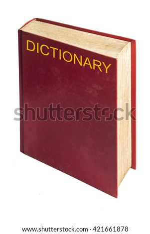 Red cover Dictionary