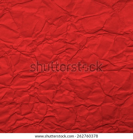 Red Crumpled Paper Texture. Background - stock photo