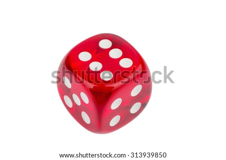 red cube, symbol photo for gambling, risk and problem gambling