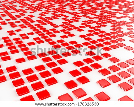 Red cubes background  - stock photo