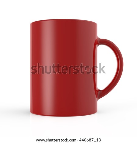 Red cup 3D render