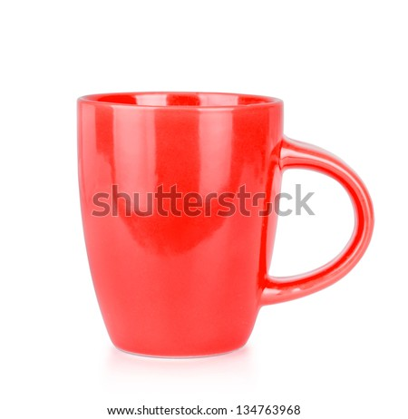 Red Cup Isolated on White