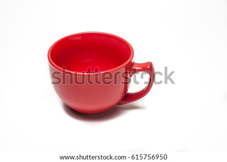 red cup isolated white