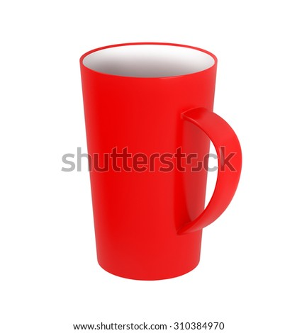 Red Cup on the white background