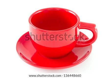 red cup on white background