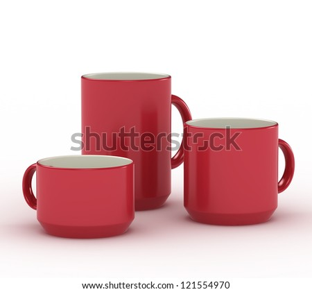 Red cups set