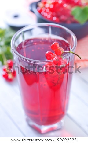 red currant in glass