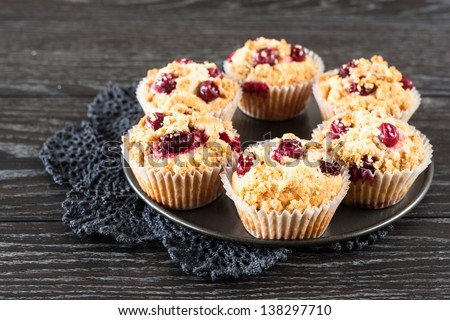Red Currant Muffins - stock photo
